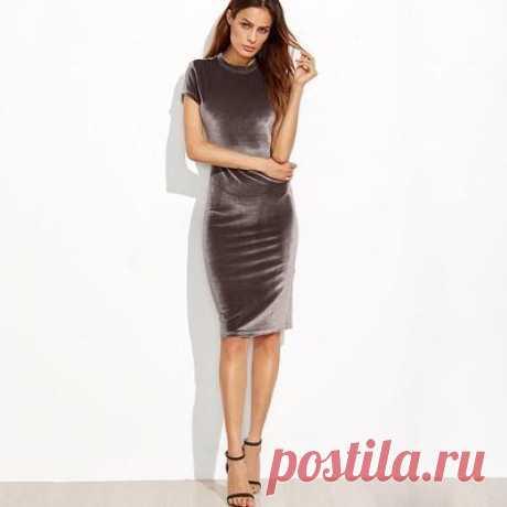 1 X новой бархатное платье карандаш юбка для женщина осень зима – купить по низким ценам в интернет-магазине Joom