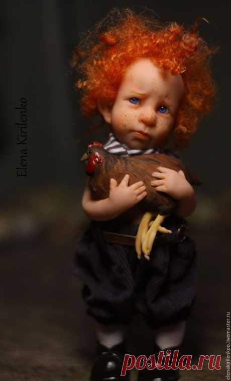 """Купить """"Лютик"""" - рыжий, курица, living doll, вельвет"""