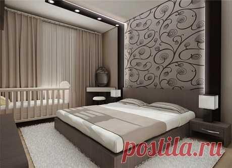 Так можно оформить спальную комнату.