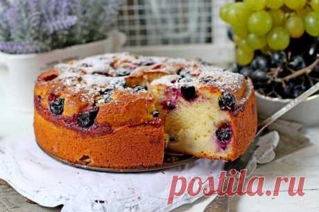 Интересный рецепт пирога с виноградом | Женские секреты