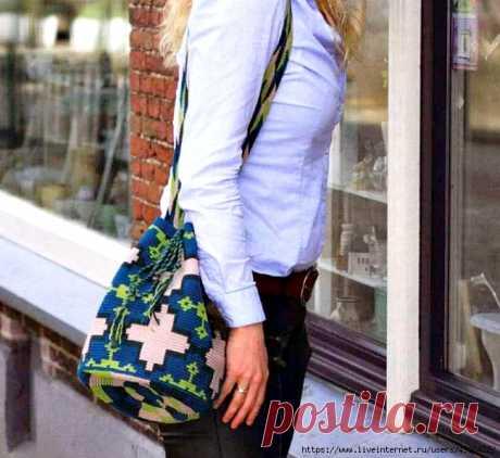 "Вязаная сумка ""Azulejo"" (мочила)."