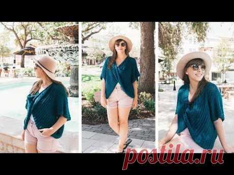 Crochet Twist Swancho - Easy Poncho Sweater