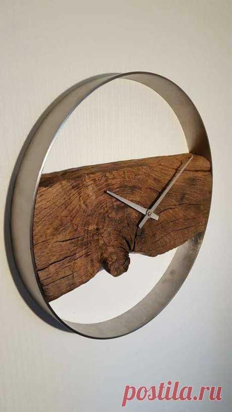Необычные часы из дерева (трафик) Модная одежда и дизайн интерьера своими руками