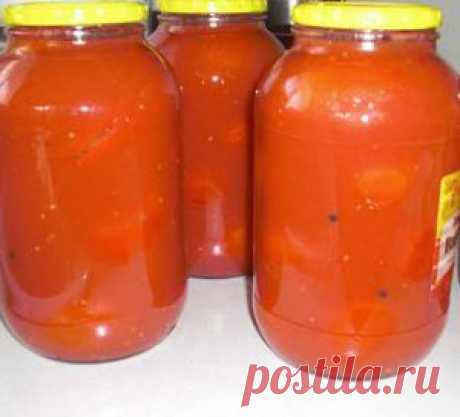 Консервированные помидоры в собственном соку пользуются в нашей семье большой популярностью.