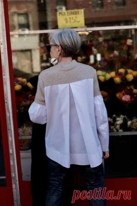 Свитшот с рубашечной спинкой / Худи, свитшоты и толстовки: идеи декора / ВТОРАЯ УЛИЦА