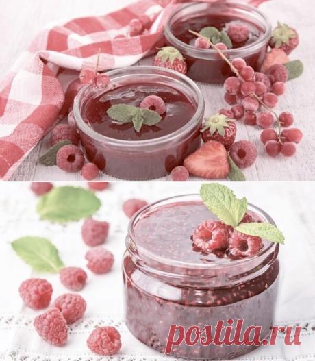 Рецепт ароматного джема из малины с мятой | Хозяйка-всезнайка  | Яндекс Дзен