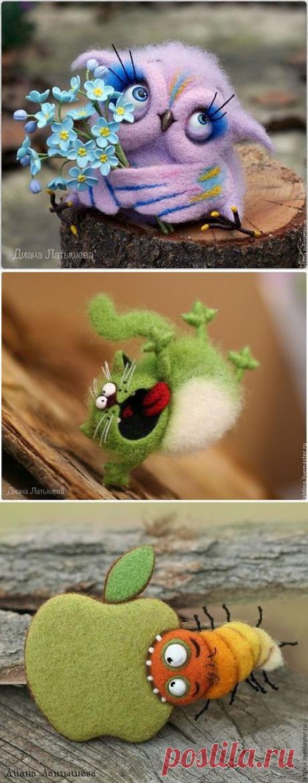 Забавные валяные игрушки. Автор Диана Латышева