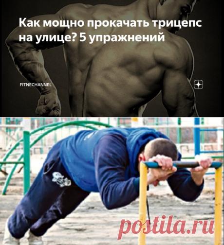 Как мощно прокачать трицепс на улице? 5 упражнений | fitnechannel | Яндекс Дзен