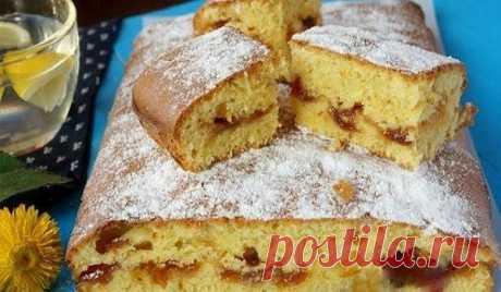 Пирог с вареньем на скорую руку — На кухне