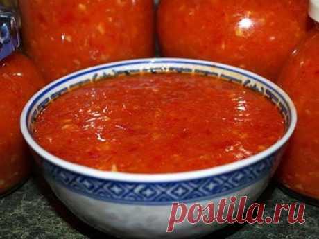 """Закуска """"Заманиха"""" Ну вот и я решилась выставить свой рецепт заготовки из помидоров.  Искала по ингредиентам и по названию, подобного не нашла.  Советую не проходить мимо этого рецепта всем любителям домашних заготовок! Рецепт на сайте:  https://babushka.moy-celebnik.ru/zakuska-zamanixa.html"""