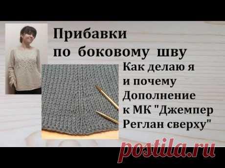 Прибавки по Боковому Шву или Имитации бокового шва Дополнение к МК Джемпер Реглан Сверху