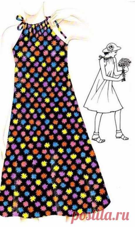 Летние платья и сарафаны с простыми выкройками. Большая подборка