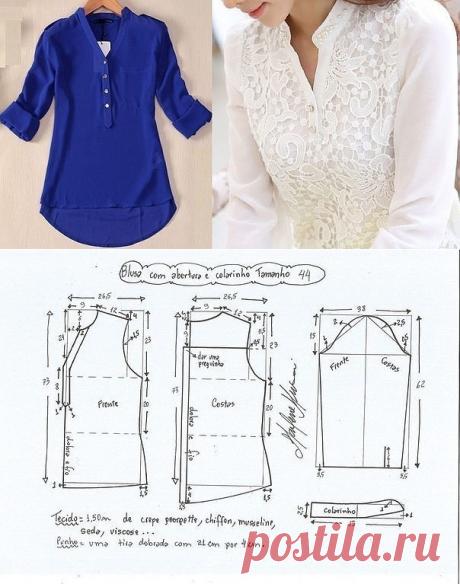 Портной • Шитье, переделки - легко!Блузка размеры ЕВРО