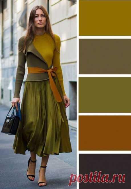 Как красиво сочетать цвета осенью — Полезные советы