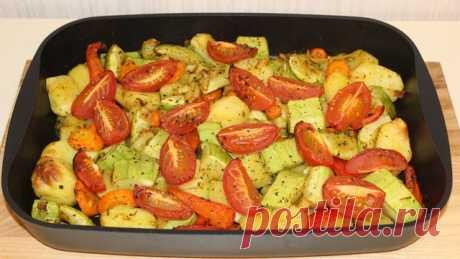 Кабачки с овощами и картошкой запечённые в духовке – пошаговый рецепт с фотографиями