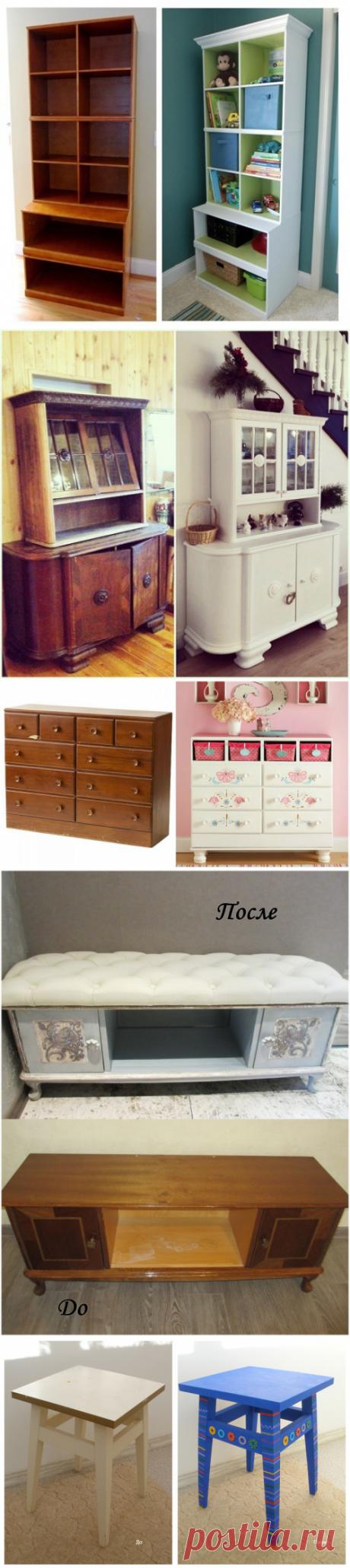 Отличные идеи переделки старой мебели — Рукоделие