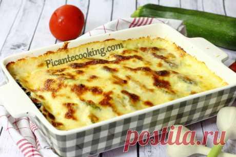 Овочевий тіан під сирно-часниковим соусом | Picantecooking