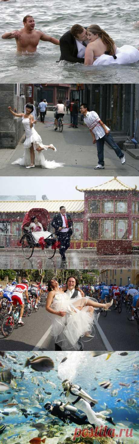 Странные свадебные фотографии со всего мира | MixStuff