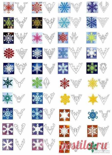 Снежинки из бумаги (300 вариантов) - самая большая подборка в рунете! Новый год не за горами...