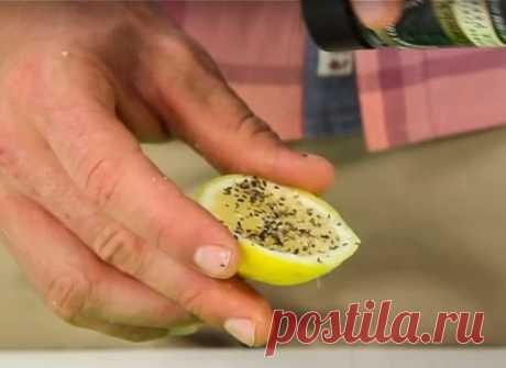 Используй лимон, соль и перец, чтобы справиться с этими 8 проблемами