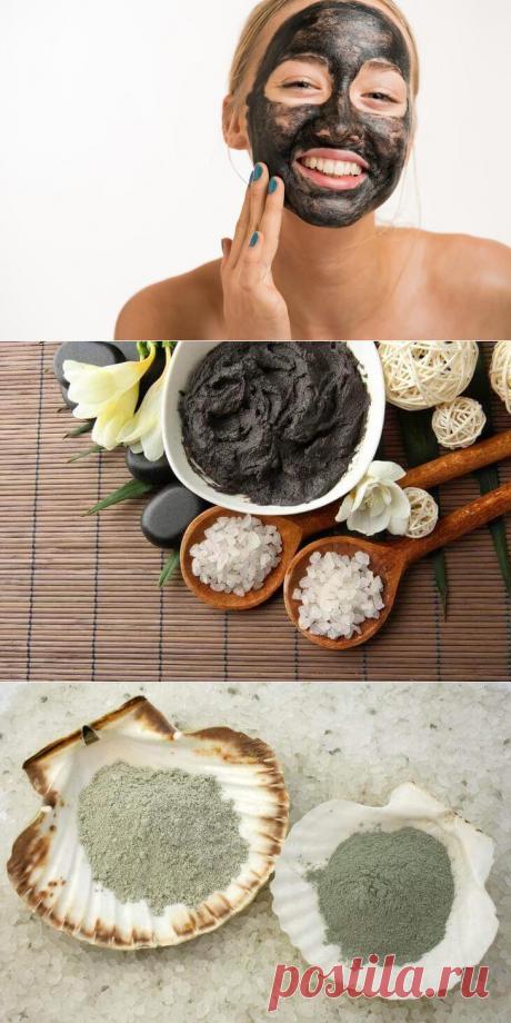 Белая, голубая и черная глина: рецепты косметических масок от прыщей