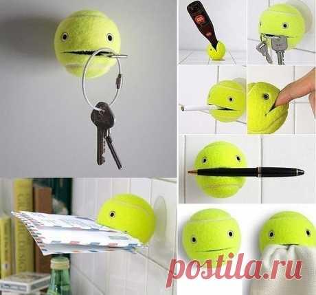 Теннисный мячик Вам в помощь.