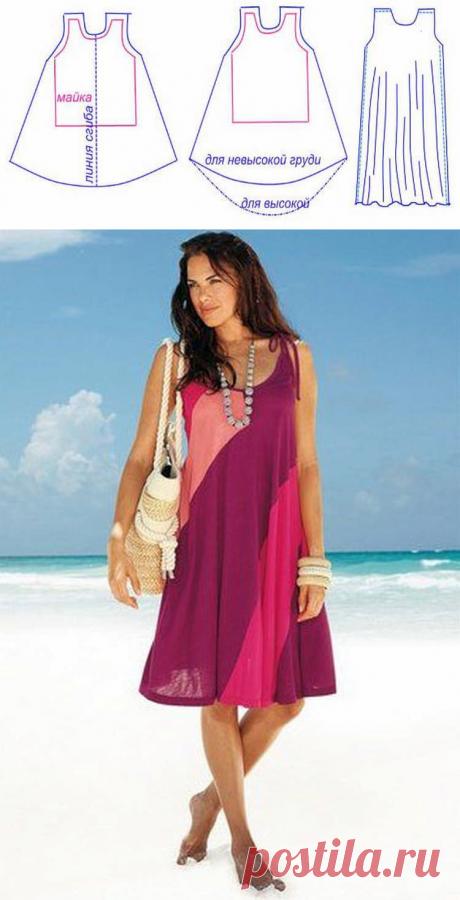 Сшить платье без выкройки быстро, просто и стильно