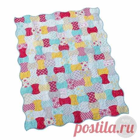 Лоскутное шитье, схемы. Необычный блок для одеяльца /