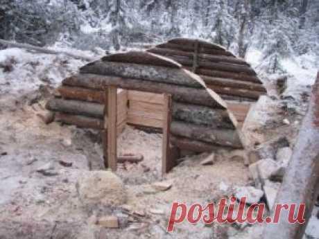 Строительство зимовья в заснеженном лесу «Русский Робинзон» | САМОДЕЛКИН ДРУГ
