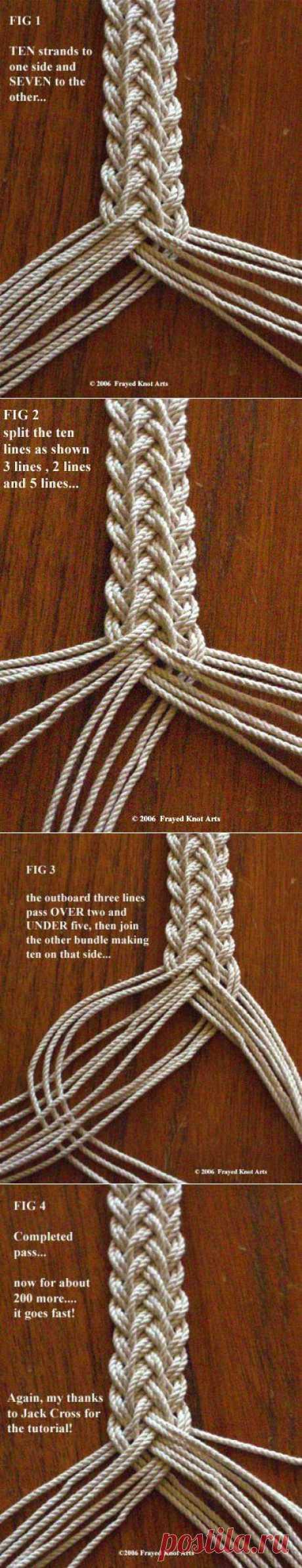 Плетем двойную косу | Умелые ручки
