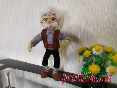 """Папа Карло из """"Буратино"""", ч.4. Papa Carlo of """"Pinocchio"""", р.4. аmigurumi, сrochet, амигуруми."""