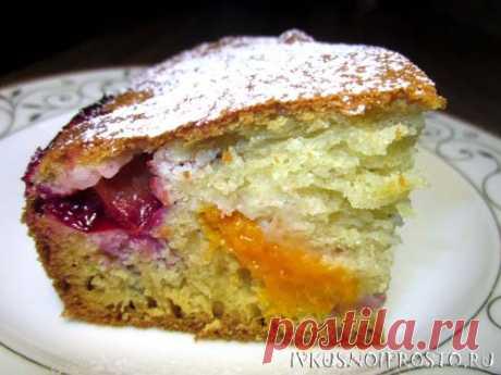 Заливной пирог с ягодами - пошаговый рецепт с фото   И вкусно и просто