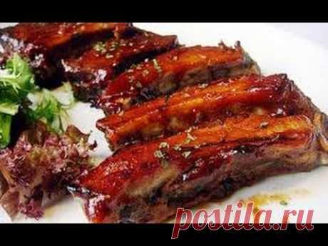 Como preparar de cerdo magnífico rebryshki, el maestro la clase del jefe del cocinero - YouTube
