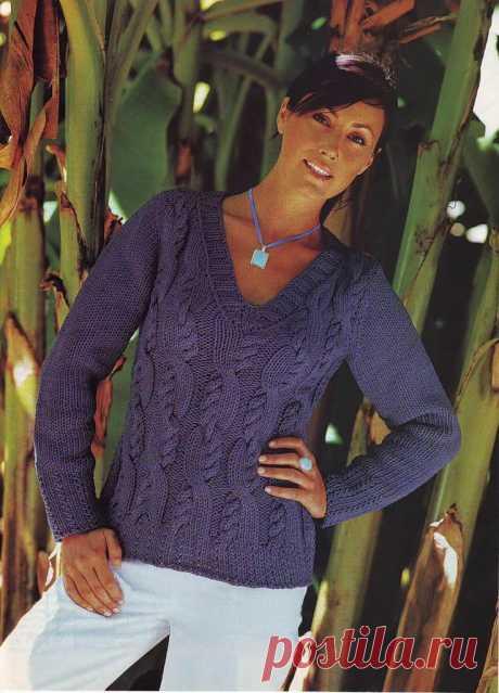 пуловер спицами - Самое интересное в блогах