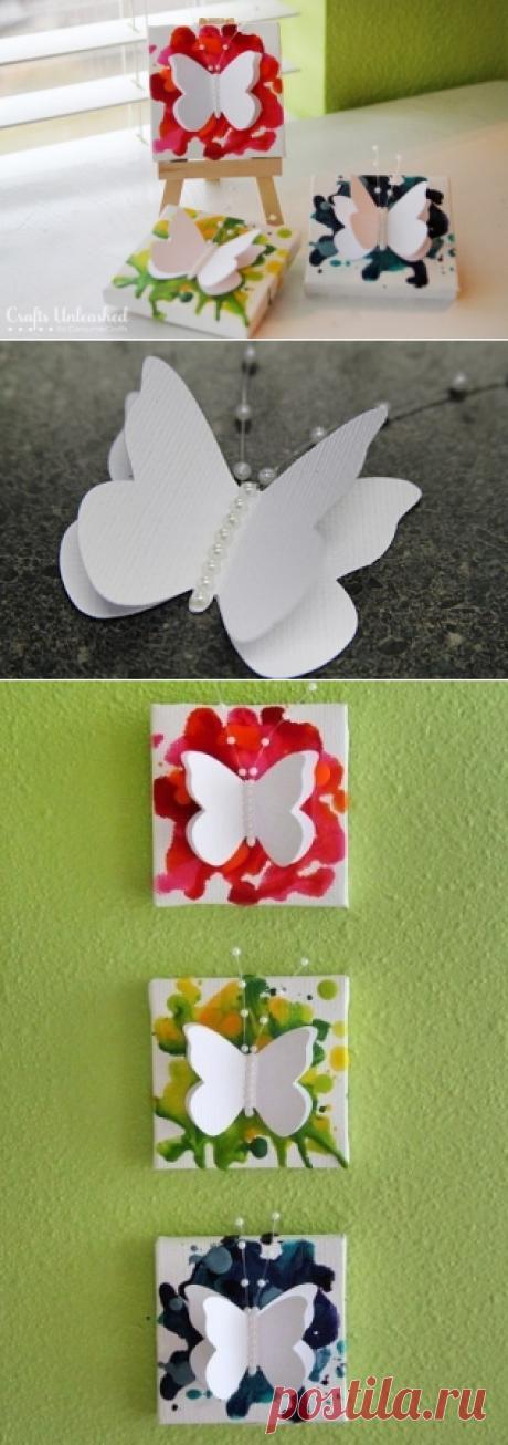 Панно с оригинальной бабочкой - Интересные идеи для вдохновения