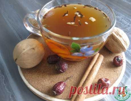 Чай с шиповником и грецким орехом – кулинарный рецепт