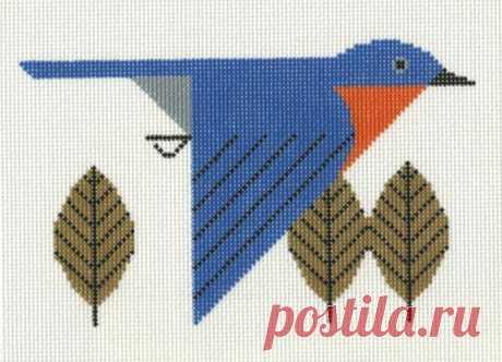 Восхитительные птицы Чарли Харпера - схемы для многоцветного вязания и вышивки | Вязалки Веселого Хомяка | Яндекс Дзен
