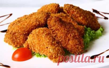 La gallina como en KFC: los secretos panirovki y el rebozo, las recetas de la foto