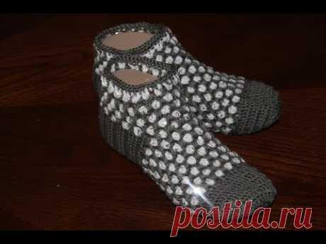 Красивые носочки для мамочек крючком