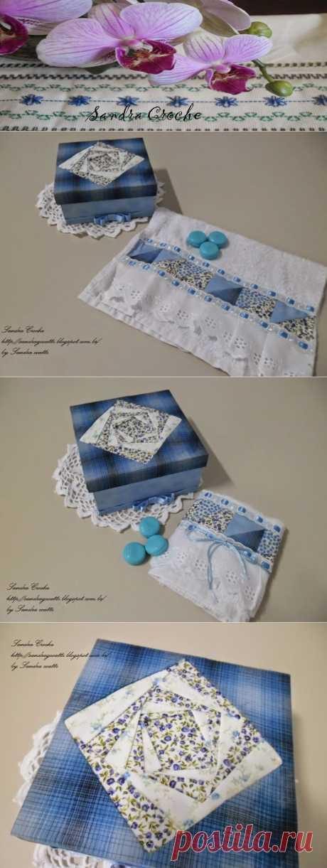 SANDRA CROCHE: Iris Folding \/ Patch Composé - Forração de caixa
