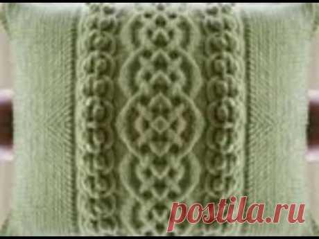 МК по вязанию подушки с кельтским узором и шишечками/Начало вязания/Вяжем дополнительный ряд и 1-6.