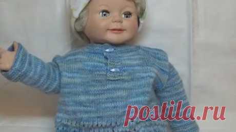 Мастер класс !!! Бесшовная кофточка для новорожденного спицами. Baby jacket knitting.