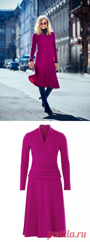 Платье с эффектом запаха - выкройка № 107 B из журнала 12/2018 Burda – выкройки платьев на Burdastyle.ru