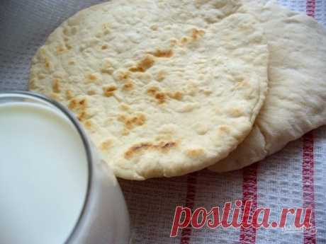 Flat cake pita without yeast (the simple recipe) - the step-by-step recipe from a photo on Повар.ру