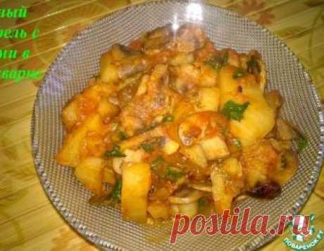 Тушёный картофель с грибами в мультиварке – кулинарный рецепт