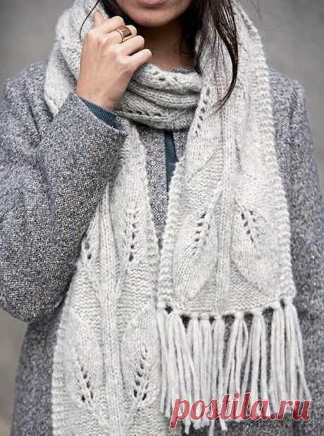 10 крутых узоров для вязания шарфа спицами Узоры для вязания шарфов: простые, ажурные, с прямоугольниками, полосками, елочкой, лесенкой. Подробные схемы вязания узоров с описанием и расшифровкой для новичков.