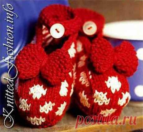 Модели детских носочков, пинеток, варежек - с любовью от наших бабушек. - KnittedFashion.info