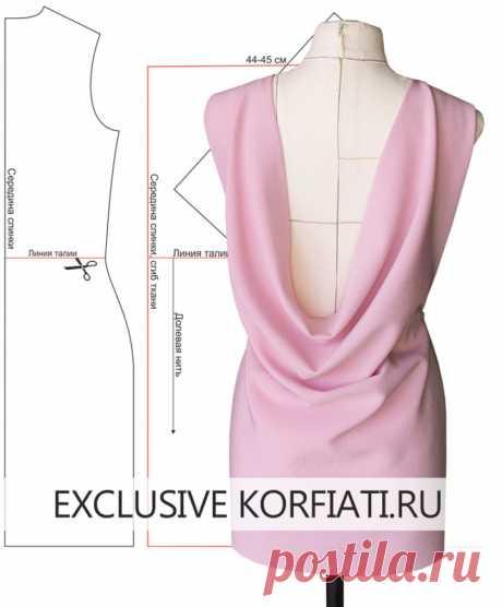 Выкройки платьев с драпировкой по спинке от Анатасии Корфиати