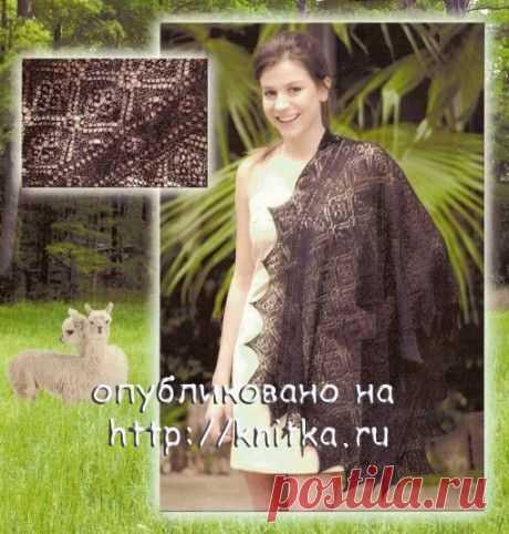 Ажурный палантин спицами, Вязание для женщин
