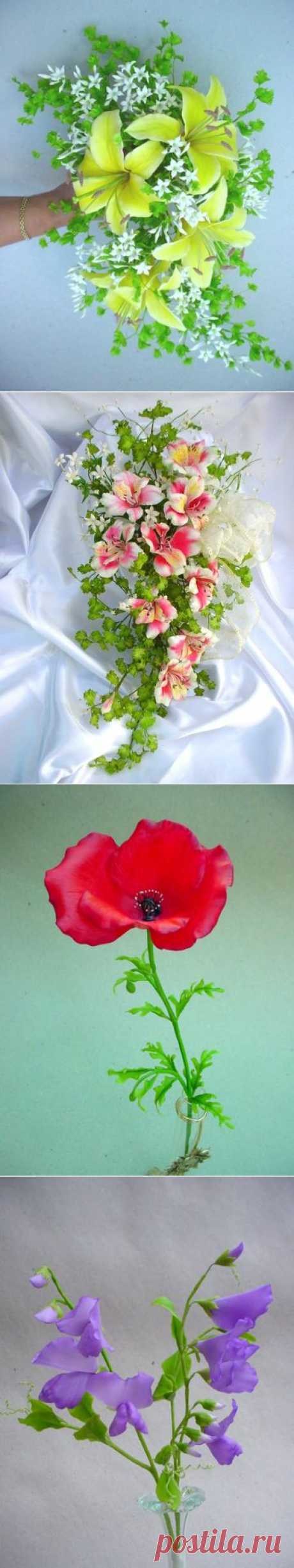 Рецепты холодного фарфора для лепки цветов.